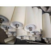 翼诺牌厂家直销白色超高分子量聚乙烯耐磨静音工程塑料托辊来图定制