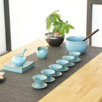 日式干泡茶具套装复古粗陶纯手工功夫陶瓷家用送礼整套茶具礼盒装