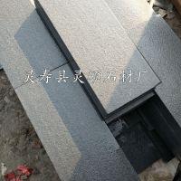 中国黑石材厂家 大量批发黑色花岗岩毛板 荔枝板