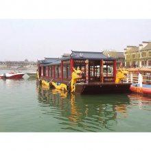 江西画舫船设计公司批发水上房船 特色餐饮船 玻璃钢画舫船