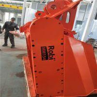 龙工862装载机 ROBI进口挤压式筛分 土壤修复 筛分破碎铲斗