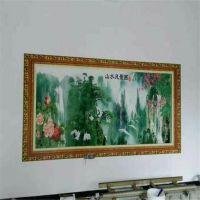 北京墙面喷绘机广告制作设备 墙体彩绘机多少钱一台?