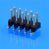 排针2.0间距 单排1P至40P 双塑 180度 镀金环保料