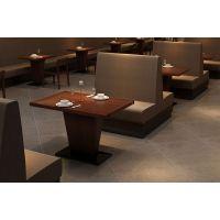 海德利 美式乡村实木餐桌椅铁艺餐桌椅组合特价定制快餐桌子复古餐厅家具