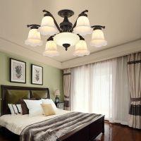 客厅大厅美式玻璃奢华大气卧室餐厅灯