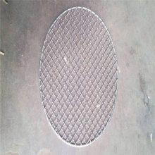轧花网边缘处理 白钢轧花网 方型铁丝网