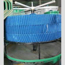 化工厂耐温65度蓝色PVC填料 圆形斜交错填料 河北华强