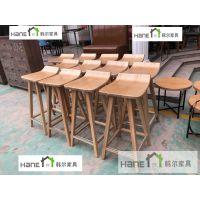 供应浦东咖啡厅实木椅子定做 上海韩尔品牌
