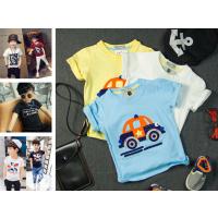 夏季新品童装t恤卡通印花外贸厂家直批地摊货源韩版打底衫儿童T恤
