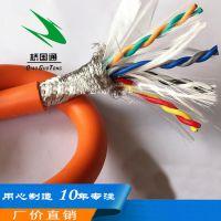 8芯双绞伺服电缆编码电缆,8芯航空头信号双绞电缆,8芯防水连接器数据传输电缆