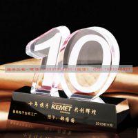 香港水晶纪念品,公司周年庆典赠客户纪念品,水晶帆船印LOGO制作厂家腾洪