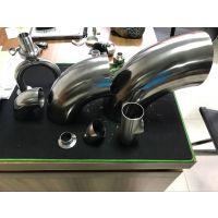 司前90度卫生级304不锈钢弯头 φ45*1.5
