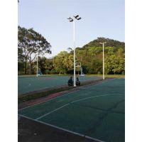 学校小型篮球场灯杆安装 5人制足球场灯柱 价格 6米方案款式高度可定做康腾体育