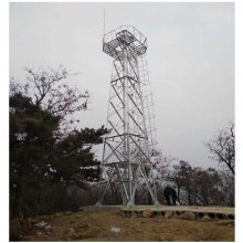 15米四柱角钢监控铁塔钢架加工制造