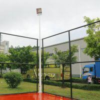 汕头学校灯光照明效果 篮球场灯光安装标准 柏克照明灯杆尺寸