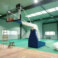 大批量生产河北大迪牌 钢 国家标准 液压 篮球架