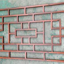 铝合金焊接窗花 仿古木纹铝合金窗花图片