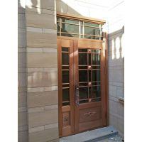厂家热销拼接玻璃系列仿铜门工艺门防盗门