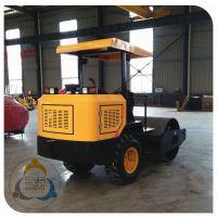 带胶轮的钢轮振动压路机 三人行压实机械 敦实的产品 可靠的售后