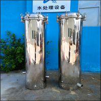 确山县直销水库水游泳池自来水滤芯优质PP棉过滤器大流量全不锈钢桶体清又清生产