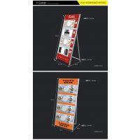 定制 集成吊顶展架浴霸电器展示架LED照明灯风暖一体分体机多功能展架