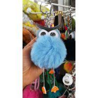 猫头鹰毛球挂件毛绒公仔钥匙扣