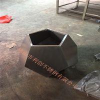 不 锈钢多边形花盆定制利创花盆加工批发