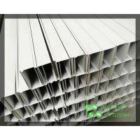 白色滚压铝通50×100大量批发大型购物商场通道休闲场所天花吊顶