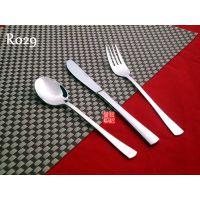 304不锈钢牛排刀叉西餐餐具套装三件套勺欧式酒店创意