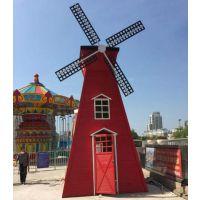广州康田园林景观风车,景观水车,户外风车厂家