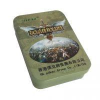 扑克牌铁盒 单幅扑克牌礼盒 马口铁扑克牌包装盒定制