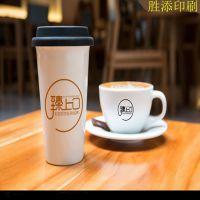 东莞胜添直销咖啡杯LOGO贴纸 奶茶杯食品贴纸 适用机贴 手工贴