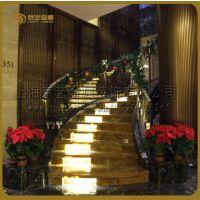 上海京艺精品钢结构楼梯西安皇冠假日酒店钢楼梯专业工程楼梯