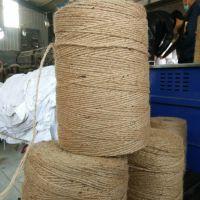 青贮饲料牧草秸秆打捆机专用麻绳 甘蔗捆绑麻绳 三股黄麻绳 进口黄麻