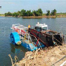 湖南全自动收割水草船价格 打捞垃圾船型号