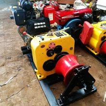 四轮拖拉机绞磨 电动绞磨机 3吨汽油绞磨机价格 洪涛电力机具厂