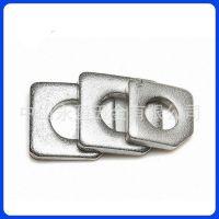 中山佛山不锈钢垫片 槽钢用方斜垫 缺角斜垫圈 楔形垫片厂M8-24