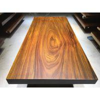 实木餐桌 奥坎巴花鸡翅木实木大板茶台茶桌216长98宽现货特价