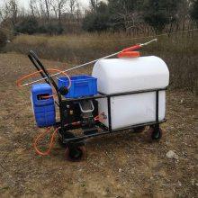 新款园林杀虫喷雾器玉米地拉管式打药机105L电动喷药车