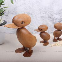 北欧家居丹麦木偶摆件简约创意经典礼物小鸭子实木家装工艺礼品
