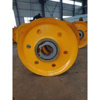 32吨夹轮不带轴承滑轮组 钢丝绳滑轮组 起重地轮 澳尔新牌