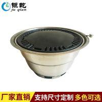 厂家直销韩式上排烟木炭烧烤炉 下排烟烤炉 商用圆形不锈钢烤炉