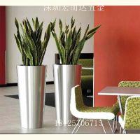 宏而达不锈钢圆锥形组合花盆 金属花器景观花盆生产厂家定制