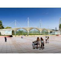 厂家安装户外体育场环PVDF保膜结构景观棚新款遮阳景观膜结构