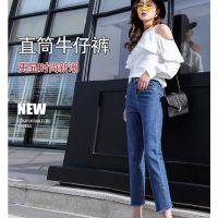 长期供应库存牛仔尾货厂家几块钱牛仔裤批发韩版 杂款女装牛仔裤夏季便宜牛仔