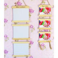 相框 挂墙纯实木三连框儿童婚纱影楼组合连体挂件创意7寸10寸特价批发