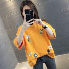 夏季便宜女式T恤韩版T恤纯棉大版女装短袖厂家清货库存女式上衣便宜处理女装衬衣2元清