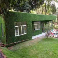 时宽批发抗紫外线加密米兰草仿真植物墙草皮,外墙围栏店铺门牌装饰塑料草