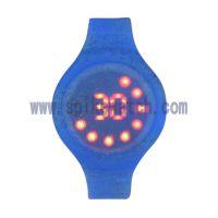 SPIKE优质手表工厂生产2018年新款闪粉硅胶表带LED电子手表