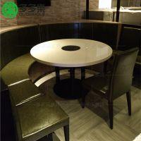 人造石火锅桌椅全国订做 电磁炉电陶炉火锅餐桌